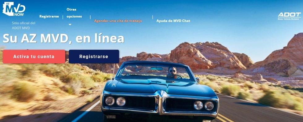 Pasos para reservar cita en DMV de Arizona.