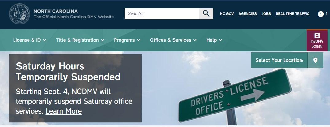 Pasos para reservar su cita y usar los servicios en línea del DMV de Carolina del Norte.